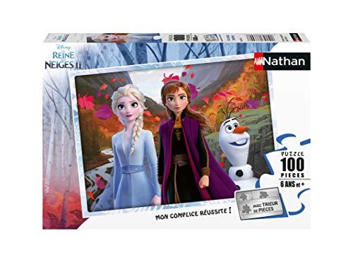 Nathan 4005556867684 - Puzzle (100 piezas), diseño de Frozen , color, modelo surtido