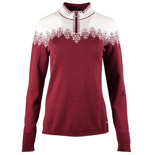 Dale of Norway Damen Snefrid Fem Sweater S Ruby Mel/Off White