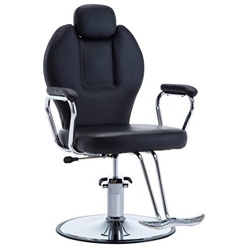 VidaXL 110165 kappersstoel kappersstoel kappersinrichting bedieningsstoel zwart