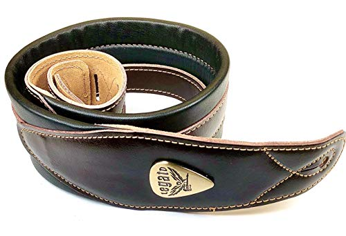 Guitar Strap 3 Inches Wide Padded Soft Leather for Acoustic Bass And Electric Guitars