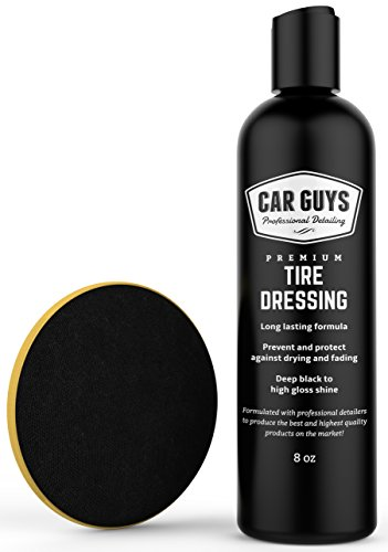 Tire Shine Gel - Best Tire Dressing Car Care Kit for Car Tires After a Car Wash - Car Detailing Kit for Wheels and Tires with Included Tire Shine Applicator - by Car Guys Auto Detailing Supplies