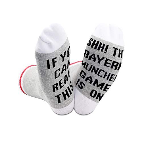 Fußballspiel-Liebhaber Geschenke Socken If You Can Read This Shh The Soccer Game Is On Present Für Fans Gr. M, Bayern München EU