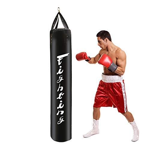 Sandsack Zum Boxen Ausbildung, Zuhause Fitnessgeräte Nicht Gefüllt, Boxsack Zum Druck Entlasten Bodybuilding MMA Ausbildung Fitness Kampfkunst Kickboxen,Schwarz,180cm
