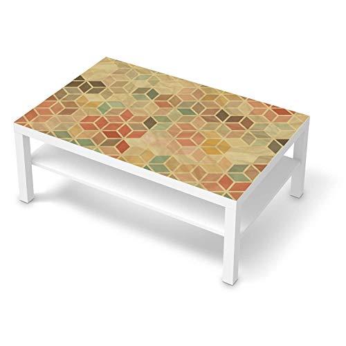 creatisto Möbeltattoo passend für IKEA Lack Tisch 118x78 cm I Möbelaufkleber - Möbel-Folie Tattoo Sticker I Wohn Deko Ideen für Esszimmer, Wohnzimmer - Design: 3D Retro