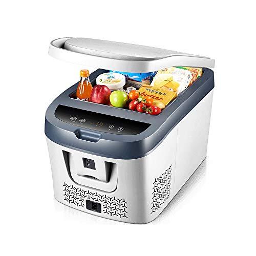NBCDY Auto Kühlschrank, 12V DC Fahrzeugstecker tragbare Gefriertruhe, elektrischer Getränkekühler mit LCD-Display, zum Fahren, Reisen, Camping, Angeln, Grillen, Outdoor