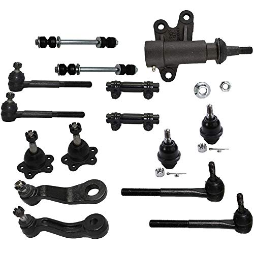 Detroit Axle - 4WD Front Ball Joints + Sway Bars + Tie Rods Suspension Kit Replacement for Cadillac Chevy GMC Escalade Yukon Tahoe K1500 K2500 K1500 Suburban - 15pc Set