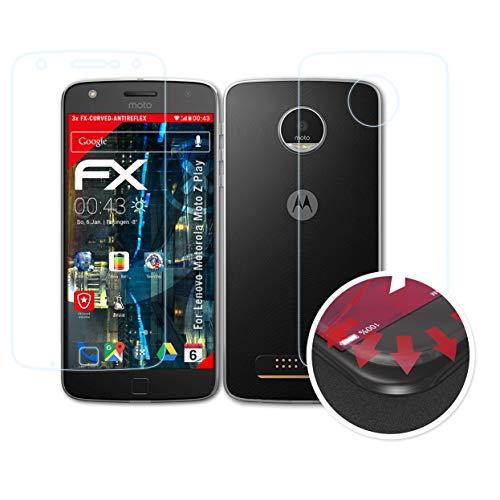 atFolix Schutzfolie kompatibel mit Lenovo Motorola Moto Z Play Folie, entspiegelnde & Flexible FX Bildschirmschutzfolie (3er Set)
