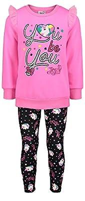 Jojo Siwa Girls Fleece Long Sleeve Shirt & Leggings Outfit Clothing Set in Pink, 10