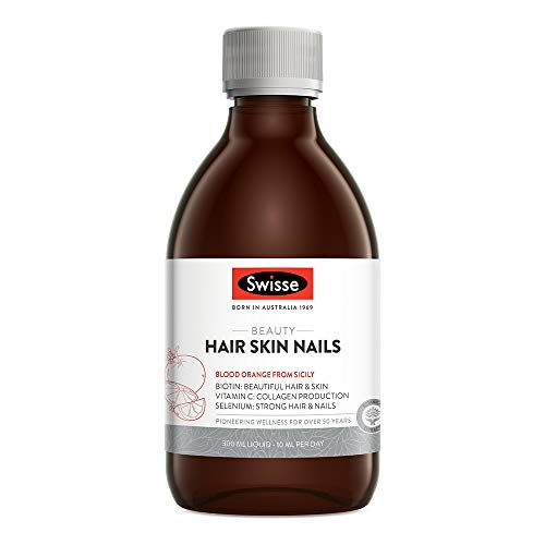 Swisse Beauty Hair, Skin & Nails Liquid Supplement | Supports Collagen Production | Vegan Supplement | 300ML