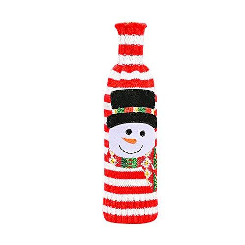 Unstopup Navidad Vino Botella Cubrir Feliz Navidad Decoración, Papá Noel Botella de Vestir Tapa de Botella de...