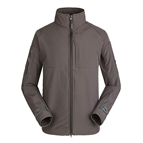 THWJSH Chaqueta militar para hombre, chaqueta con cremallera, forro polar al aire libre, deportes, camuflaje, ropa cálida, impermeable, para pesca/caza, 4-L