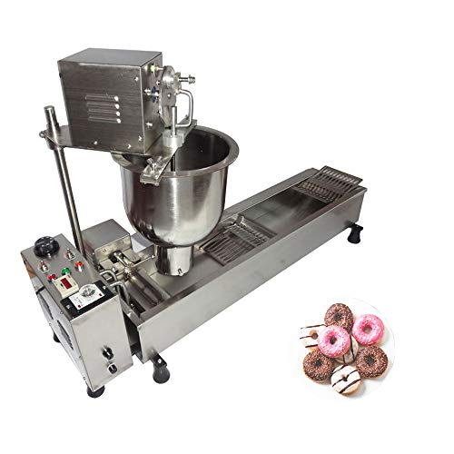 Automatic Donut Maker Commercial Donut Making Machine Doughnut Fryer Donuts Frying Collecting Molding Machine with 3 Sizes Molds