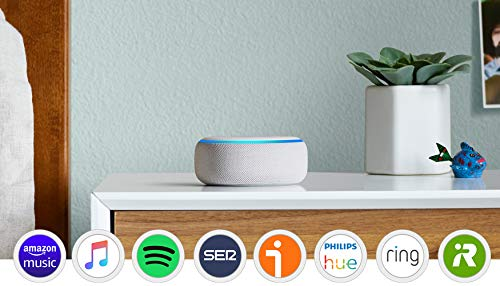 Echo Dot (3.ª generación) - Altavoz inteligente con Alexa, tela de color gris claro