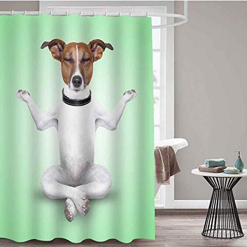 DOOPVM 3D Vorhang Schwein Kuh Huhn Duschvorhang aus Polyester Anti-Schimmel Textil Waschbar Anti-Bakteriel mit 12 Ringe für Badezimmer-180 x 180cm
