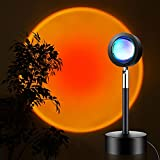 【Durable Sunset Light】10W Bright but comfortable led light, crystal-clear lens and light stand and base, this sunset lamp projection can keep it lightness and work for long time (Only one color) 【Warm Romantic Atmosphere】With this warm light, everyth...