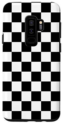 Galaxy S9+ Checkered Phone Case Check Plaid Black and White Case