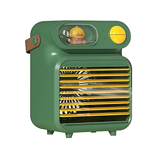 Ventilatore portatile per bambini, mini condizionatore d'aria evaporativo, ventilatore, condizionatore d'aria, umidificatore spray, purificatore per casa, ufficio e stanza