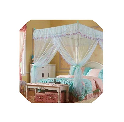 Save %52 Now! White Lace Flower Four Corner Post Bed Mosquito Netting Twin Size with Frame,2,1.35M (...