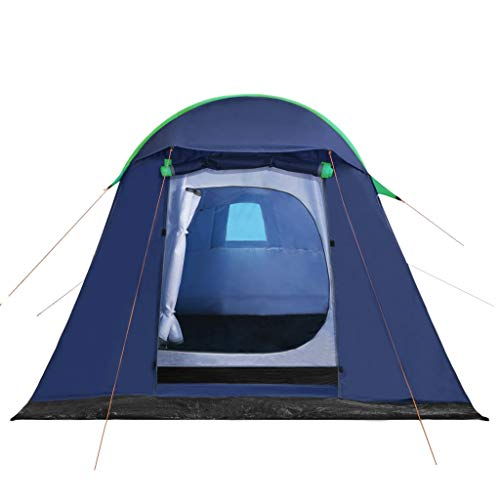 Tidyard Campingzelt Aufblasbare Stange- 2Personen Tunnelzelt,leichtes Trekkingzelt mit Vorzelt für Camping,Outdoor,320x170x150/110cm Blau Grün