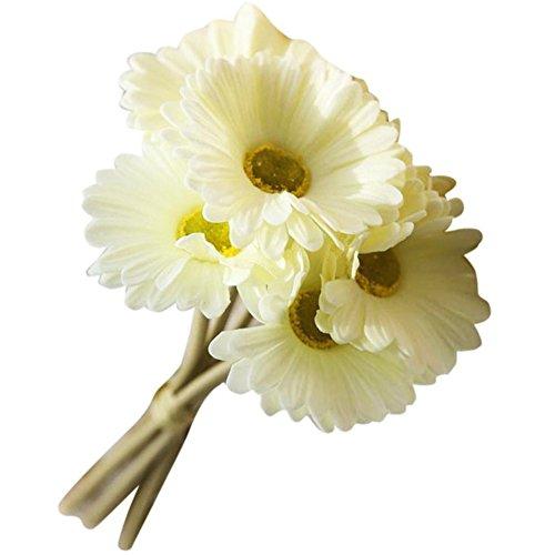 Fleurs artificielles Gerbera pour intérieur ou extérieur, maison, jardin, décoration de mariage