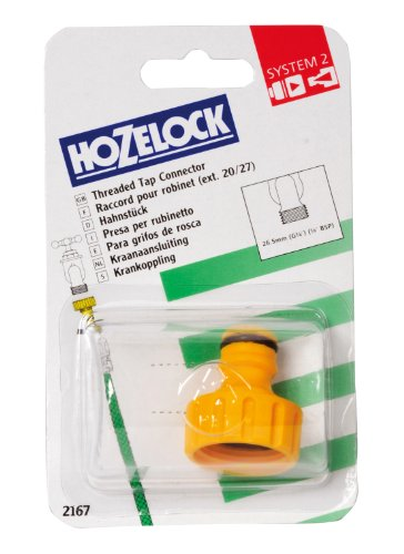 Hozelock - Adaptador para grifos sin rosca de 3/4''