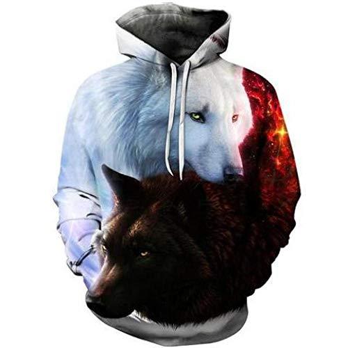Loup Imprimé Hoodies Hommes 3D Hoodies Sweats Garçons Vestes Qualité Pull Mode Survêtements Animal Streetwear Out Manteau-W00271_XXL