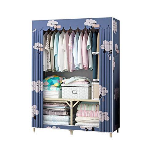 Rollsnownow - Armadietto per armadio, camera da letto, in tessuto non tessuto, metallo, B, 95x45x160cm