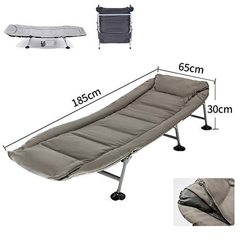 ZHUAN Klappbare Liegestühle Superweicher Camping-Liegestuhl, Sonnenliege mit 6 Beinen Sonnenliege Karpfenbett Gartenbett, Campingstuhl Kopf 5 Position D.