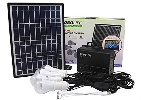 Tutoy Lm-3606 110-220V 4Usb Solar Panel Generador Generador Solar Sistema con Led Lampsolar Paneles