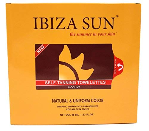 Organic Self Tanner Natural Ingredients Sunless Tanning Wipes for Face & Body - Skin Friendly - Self...