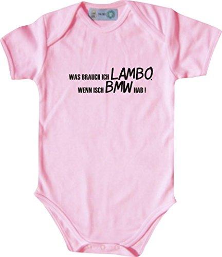 Unbekannt Lustiger Baby Body mit Druck/was Brauch Ich Lambo, Wenn Isch BMW Hab! / Farbe: Babyrosa/Größe: 62-68 (3-6 Monate)