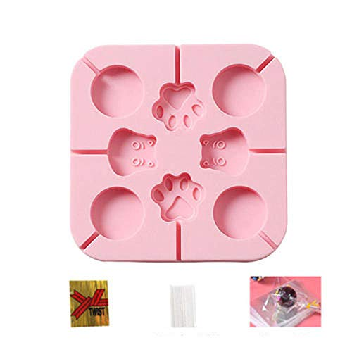 Silicone Lollipop Mould Silicon Food Moulds Various Shapes of Lollipops Chocolate Molds Baking Mould Non-Stick Chocolate Mould Christmas Used to Make Snacks for Children -CC+