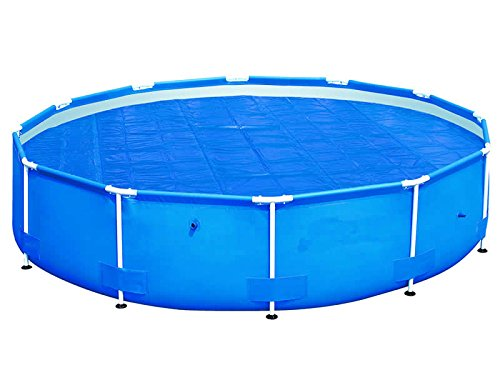 HAFIX Solarplane Cover - Ø 5 m - Poolplane Solarabdeckplane Poolheizplane für runde Pools in blau.