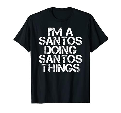 SANTOS Divertido apellido árbol genealógico cumpleaños reunión idea regalo Camiseta
