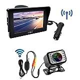 "OBEST Wireless Reversing Camera, Monitor Kit-4.3"" Front/Rear View Camera Waterproof Adjustable Easy Installation"