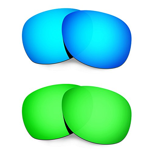 Hkuco Mens Replacement Lenses For Ray-Ban Wayfarer RB2132 55mm Blue/Green Sunglasses