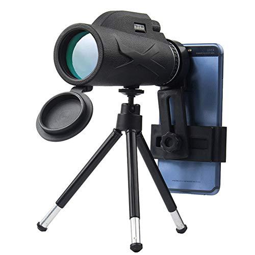 Telescopio Monoculare, 10x42 HD Monoculare, Impermeabile Portatile Telescopio Monoculare con Supporto Telefono e Treppiede per Bird Watching, Caccia, Campeggio, Partita di Calcio, Concerti