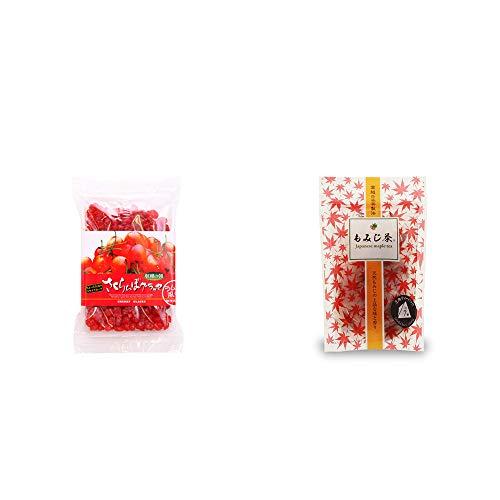 [2点セット] 収穫の朝 さくらんぼグラッセ ラム酒風味(180g)・もみじ茶(7パック入)
