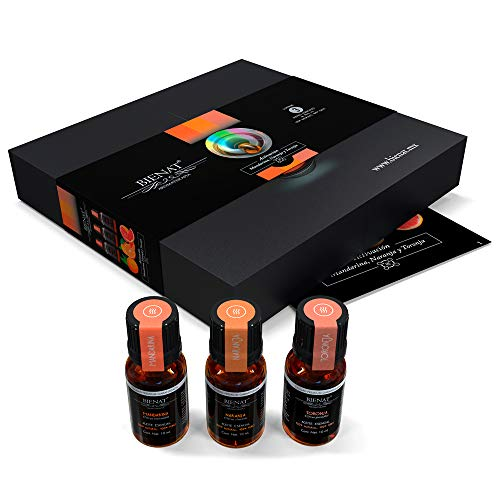 Bienat Aromaterapia Kit de 3 Aceites Esenciales Favoritos (Lavanda, Menta, y Eucalipto) 10mL