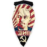 WH-CLA Sciarpa A Mezza Faccia,Propaganda Comunista di Lenin,Ghetta da Collo Antipolvere Copricapo A Mezza Faccia Senza Cuciture Face Guard per Arrampicata Yoga Equitazione