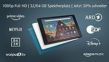 Fire?HD?10-Tablet, Zertifiziert und generalüberholt, 64 GB, Schwarz ? 10,1?Zoll großes Full?HD-Display (1080p), Mit Werbung©Amazon