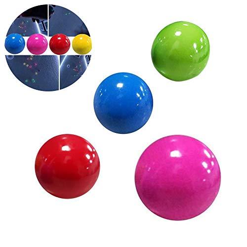 YLZQDL Sticky Globbles Ball Stress Spielzeug, Squishy Fluorescent Target Sticky Wandball, Stress Relief Wandkugeln Dekompressionsspielzeug für Erwachsene Kinder (4 + 1)