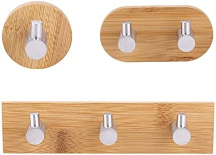 Natural Bamboo Max 86% OFF Stainless Steel Wall Bag Hook Jacksonville Mall Hanger Key Towe