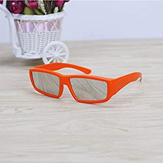 SGJFZD ABS Frame Solar Eclipse Glasses Eye Fashion Design Protection Safe Solar Viewer (Color : Orange)