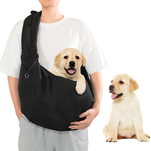 SUMBLIME Pet Sling Carrier for Dog Cat - Fit 20 Pounds Small, Medium, Large Dog, Larger Size Hand Free Carrier Bag for Daily Walk, Outdoor & Indoor Activity, Weekend Adventure