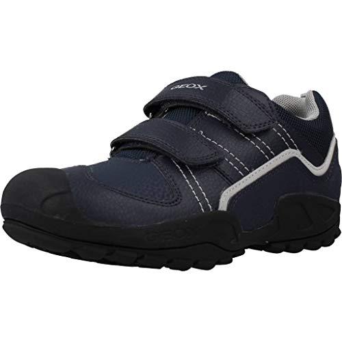 Geox Niños Zapatillas New Savage Boy,Chico Bajo,Zapato bajo,Calzado Deportivo,Cierre de Velcro,Removable Insole,Blau,31 EU/12.5 UK Child