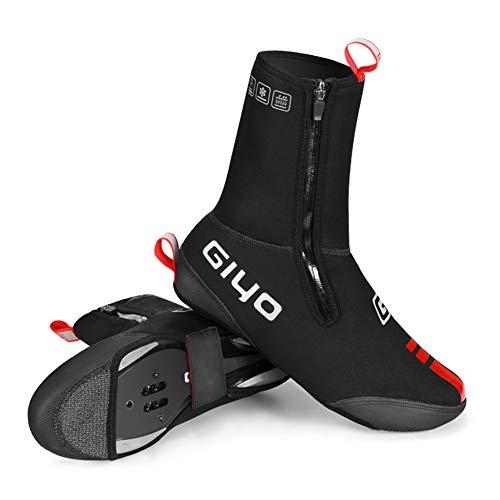 QPOLLY Cubrebotas Cubrezapatillas de Ciclismo de Invierno, Cubrezapatillas Ciclismo Impermeable Cubrezapatillas MTB Ciclismo Carretera Térmico con Fleece