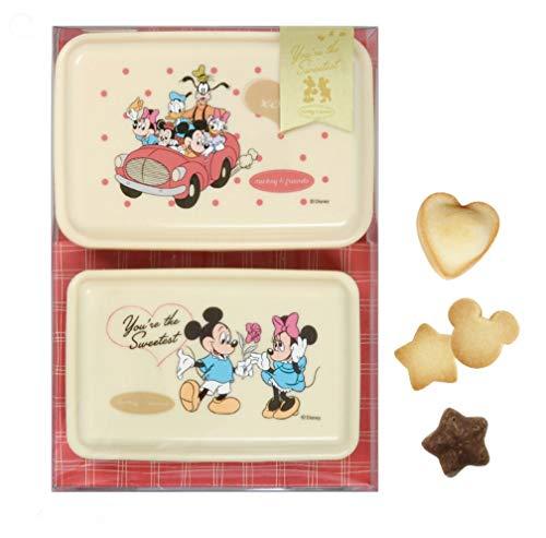 ディズニー ミッキー&ミニー ランチケース2個セット クッキー&フィナンシェ&チョコレート入りギフト ホワイトデー