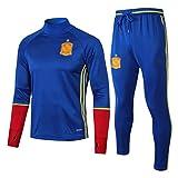 CLL-mls Europa de fútbol Club de fútbol de los Hombres de la Camiseta de Manga Larga Primavera y el otoño Uniforme Transpirable Ropa de Deporte Formación Azul (Top Pantalones +) -ZQY-A0564