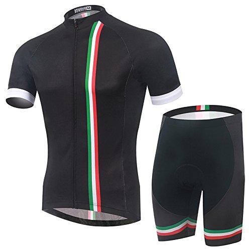 TeyxoCo Men Italy Fashion Cycling Gel Pad Jersey Set XL